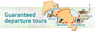 Guaranteed Departure tours Uzbekistan